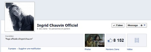 Page FB Officielle d'Ingrid Chauvin